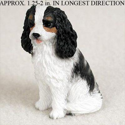Cavalier-King-Charles-Mini-Resin-Dog-Figurine-Statue-Hand-Painted-BlackWhite-181136201572