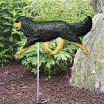 Cavalier-King-Charles-Outdoor-Garden-Dog-Sign-Hand-Painted-Figure-Black-Tan-400688299977
