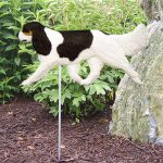 Cavalier-King-Charles-Outdoor-Garden-Dog-Sign-Hand-Painted-Figure-Black-Tri-181369649906