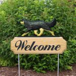 Cavalier-King-Charles-Spaniel-Dog-Breed-Oak-Wood-Welcome-Outdoor-Yard-Sign-Black-400706788751