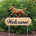 Chesapeake-Bay-Retriever-Dog-Breed-Oak-Wood-Welcome-Outdoor-Yard-Sign-400706789704