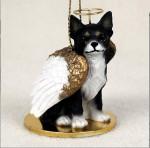 Chihuahua-Dog-Figurine-Ornament-Angel-Statue-Hand-Painted-BlackWhite-400288207834