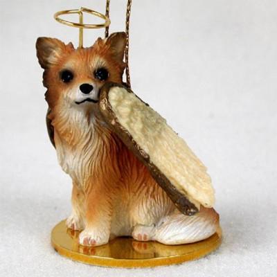 Chihuahua-Dog-Figurine-Ornament-Angel-Statue-Hand-Painted-Long-Hair-180799782922