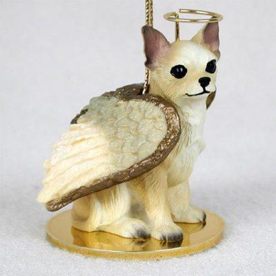 Chihuahua-Dog-Figurine-Ornament-Angel-Statue-Hand-Painted-WhtTan-400269274751