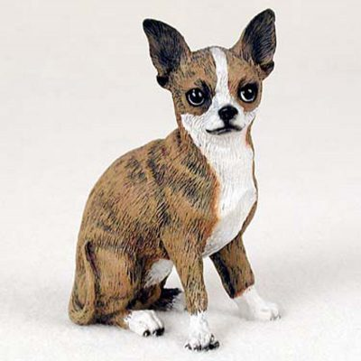 Chihuahua-Hand-Painted-Collectible-Dog-Figurine-Brindle-180838969118