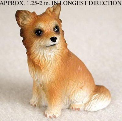 Chihuahua-Mini-Resin-Hand-Painted-Dog-Figurine-Statue-Hand-Painted-Longhair-181350380571