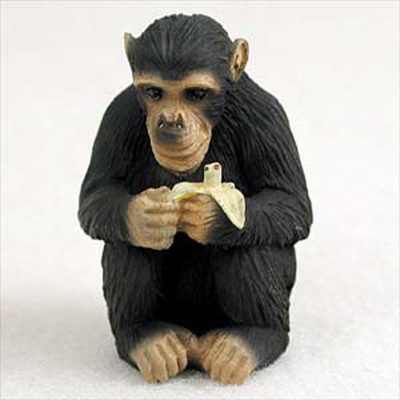 Chimpanzee-Mini-Resin-Hand-Painted-Wildlife-Animal-Figurine-181244573133