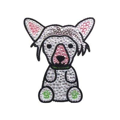 Chinese-Crested-Dog-Rhinestone-Glitter-Jewel-Phone-Sticker-Decal-181473271287
