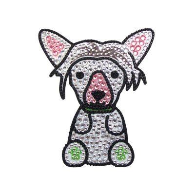 Chinese-Crested-Dog-Rhinestone-Glitter-Jewel-Phone-Sticker-Decal-181473271287