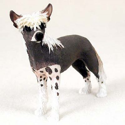 Chinese-Crested-Hand-Painted-Collectible-Dog-Figurine-181336545005