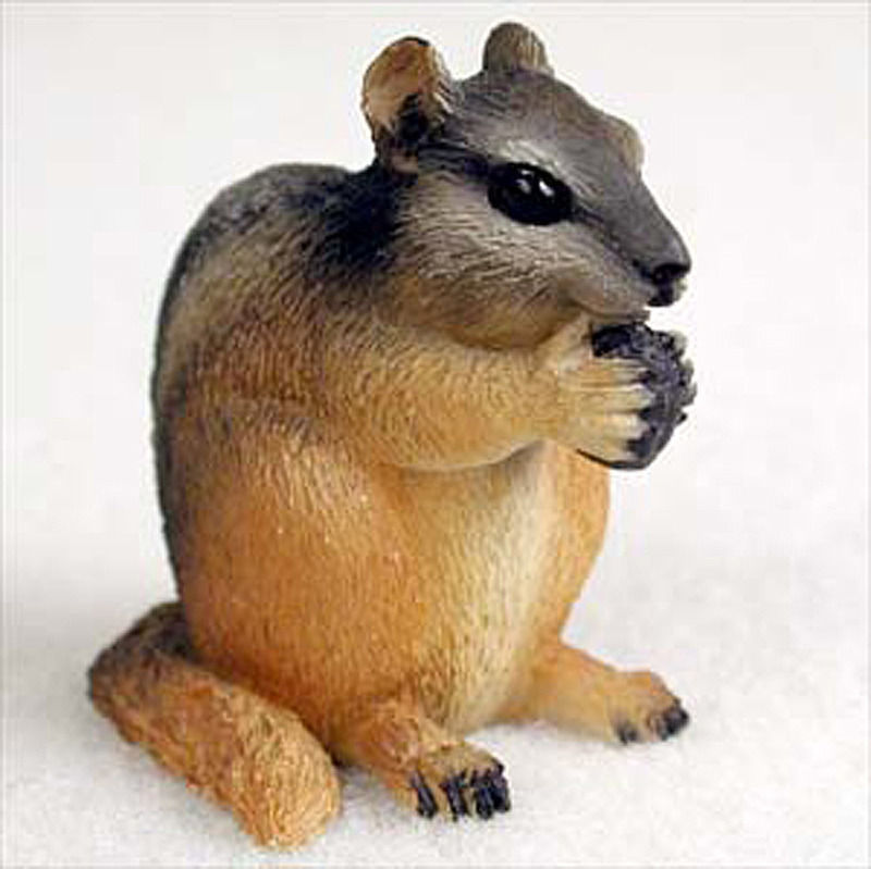 Chipmunk Mini Resin Hand Painted Wildlife Animal Figurine