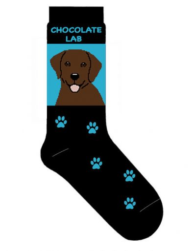 Chocolate-Lab-Dog-Socks-Lightweight-Cotton-Crew-Stretch-Egyptian-Made-Blue-400586182994