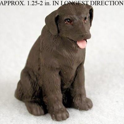 Chocolate-Lab-Mini-Resin-Hand-Painted-Dog-Figurine-Statue-180793074093