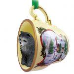 Chow-Chow-Dog-Christmas-Holiday-Teacup-Ornament-Figurine-Blue-400249384754