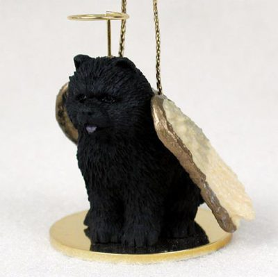 Chow-Chow-Dog-Figurine-Angel-Statue-Black-400262614288