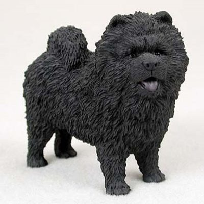 Chow-Chow-Hand-Painted-Dog-Figurine-Statue-Black-181336546787