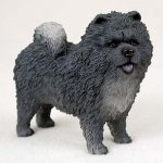 Chow-Chow-Hand-Painted-Dog-Figurine-Statue-Blue-180638148206