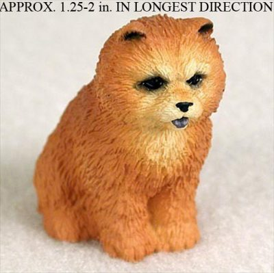 Chow-Chow-Mini-Resin-Dog-Figurine-Statue-Hand-Painted-Red-180644347592