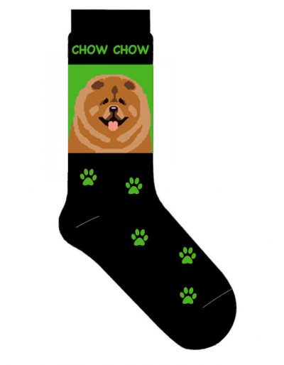 Chow-Dog-Socks-Lightweight-Cotton-Crew-Stretch-Egyptian-Made-Green-400586183179