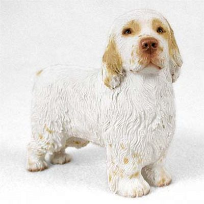 Clumber-Spaniel-Hand-Painted-Dog-Figurine-Statue-180638148234