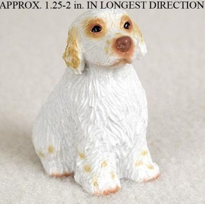 Clumber-Spaniel-Mini-Resin-Dog-Figurine-Statue-Hand-Painted-180644347602