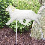 Clumber-Spaniel-Outdoor-Garden-Dog-Sign-Hand-Painted-Figure-Lemon-400688301291