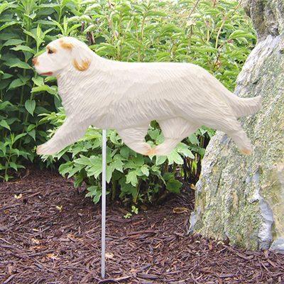 Clumber-Spaniel-Outdoor-Garden-Dog-Sign-Hand-Painted-Figure-Orange-181369651926