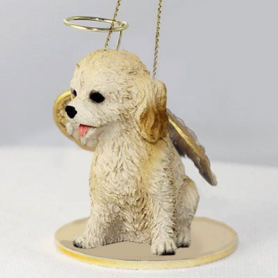 Cockapoo-Dog-Figurine-Angel-Statue-Blonde-181354147317