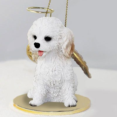 Cockapoo-Dog-Figurine-Angel-Statue-White-400679611860