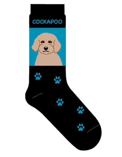 Cockapoo-Dog-Socks-Lightweight-Cotton-Crew-Stretch-Egyptian-Made-400642699111