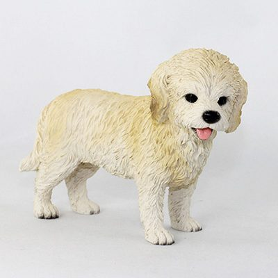 Cockapoo-Hand-Painted-Collectible-Dog-Figurine-Blonde-181354145430