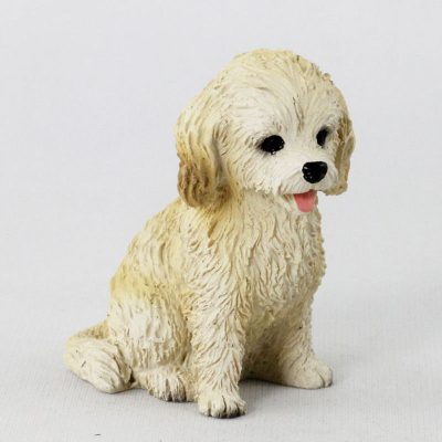 Cockapoo-Mini-Resin-Hand-Painted-Dog-Figurine-Blonde-400679612710