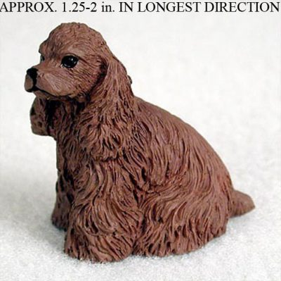 Cocker-Spaniel-Collectible-Mini-Resin-Hand-Painted-Dog-Figurine-Brown-180855996880