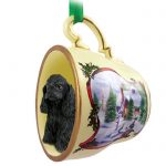 Cocker-Spaniel-Dog-Christmas-Holiday-Teacup-Ornament-Figurine-Blk-181239451322