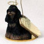 Cocker-Spaniel-Dog-Figurine-Angel-Statue-Ornament-BlkBrwn-180771908967
