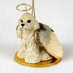 Cocker-Spaniel-Dog-Figurine-Angel-Statue-Ornament-Blonde-400250978280