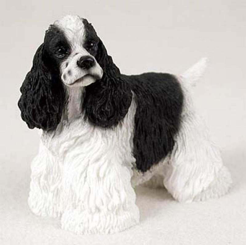 Cocker Spaniel Hand Painted Collectible Dog Figurine Black ...