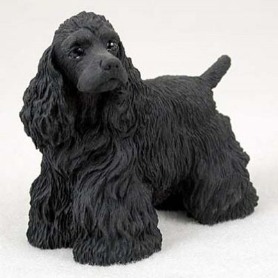 Cocker-Spaniel-Hand-Painted-Collectible-Dog-Figurine-Statue-Black-400269478364