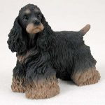 Cocker-Spaniel-Hand-Painted-Collectible-Dog-Figurine-Statue-Black-Brown-400480001412