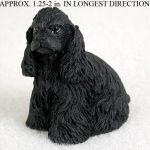 Cocker-Spaniel-Mini-Resin-Dog-Figurine-Statue-Hand-Painted-Black-180773633354
