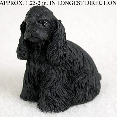 Cocker-Spaniel-Mini-Resin-Dog-Figurine-Statue-Hand-Painted-Black-180773633354