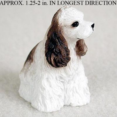 Cocker-Spaniel-Mini-Resin-Dog-Figurine-Statue-Hand-Painted-BrownWhite-400205070215