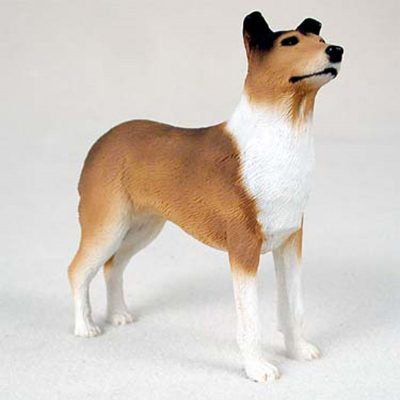 Collie-Hand-Painted-Collectible-Dog-Figurine-Statue-Smooth-181241836636