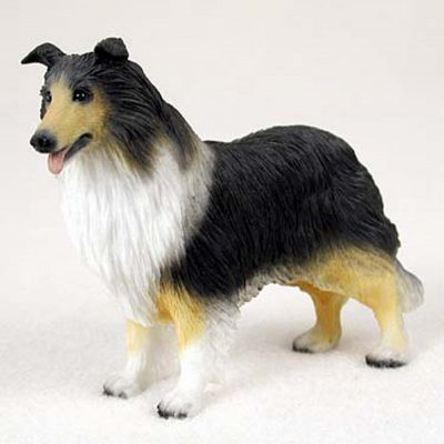 Collie-Hand-Painted-Collectible-Dog-Figurine-Tri-Color-180740414657