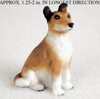 Collie-Mini-Resin-Dog-Figurine-Statue-Hand-Painted-Sable-Smooth-180644347668
