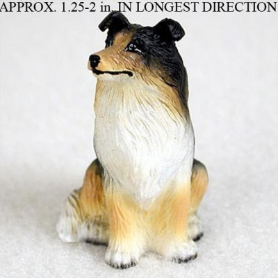 Collie-Mini-Resin-Dog-Figurine-Statue-Hand-Painted-Tri-Color-180644347755