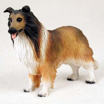 Collie-Sable-Hand-Painted-Collectible-Dog-Figurine-180741107778
