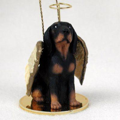 Coonhound-Dog-Figurine-Angel-Statue-181337614476