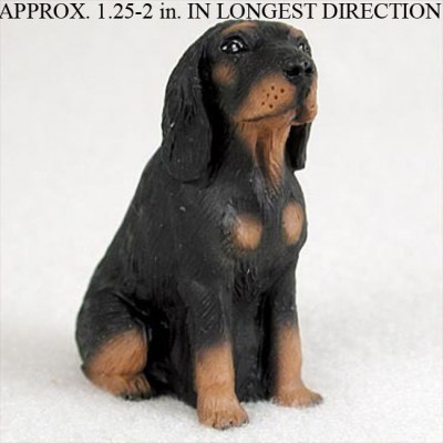 Coonhound-Mini-Resin-Hand-Painted-Dog-Figurine-180738575565