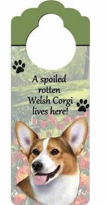 Corgi-Dog-Door-Knob-Handle-Hanger-Sign-Spoiled-Rotten-1025-x-4-181160019376